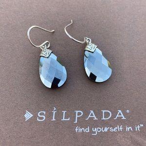 Silpada hematite Ebony sterling silver earrings